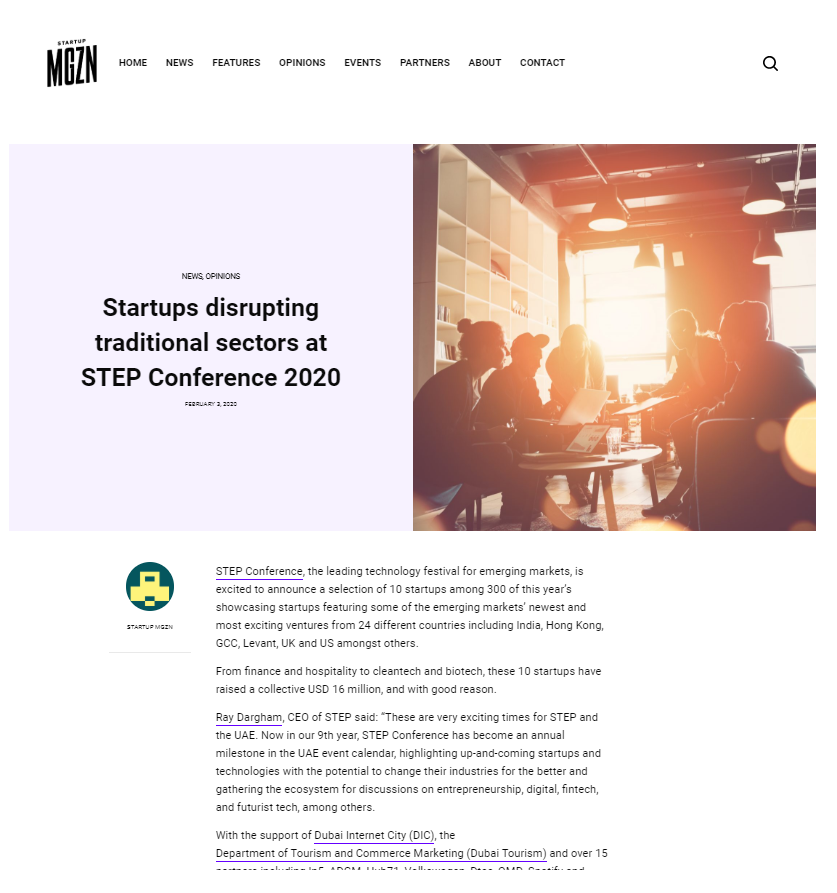 StartupMGZN-Step conference 2020